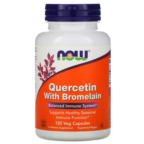Quercetin with Bromelain, 120 Veg Capsules
