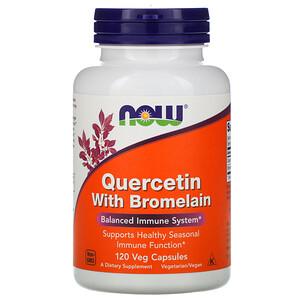 Now Foods, Quercetin with Bromelain, 120 Veg Capsules отзывы покупателей