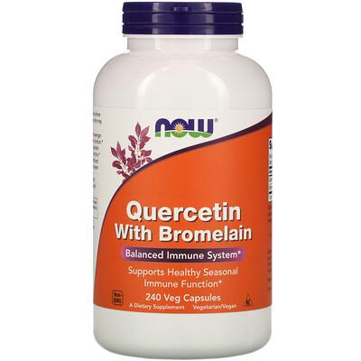 Now Foods Кверцетин с бромелаином, 240 растительных капсул