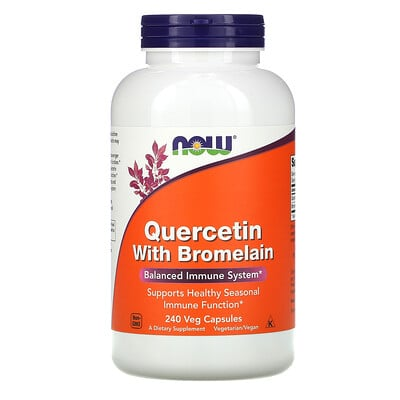 Now Foods кверцетин с бромелаином, 240растительных капсул