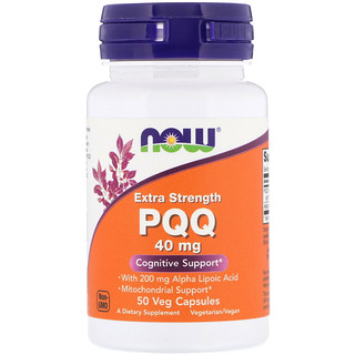 Now Foods, PQQ, Extra Strength, 40 mg, 50 Veg Capsules