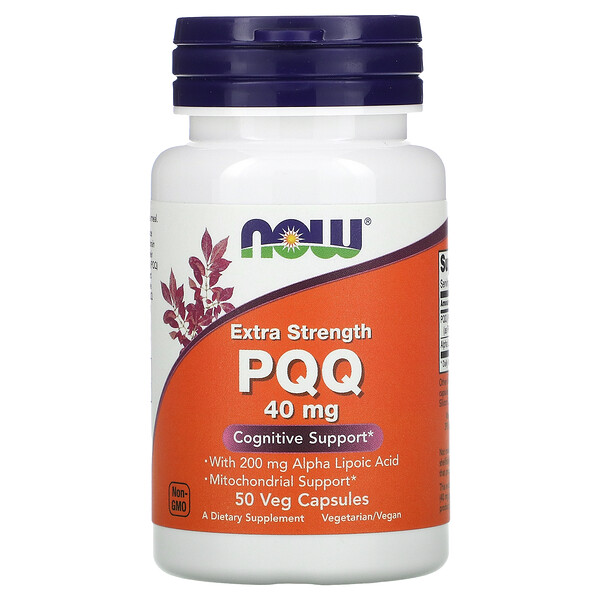 Now Foods, Extra Strength PQQ, extrastarkes PQQ, 40 mg, 50 vegetarische Kapseln
