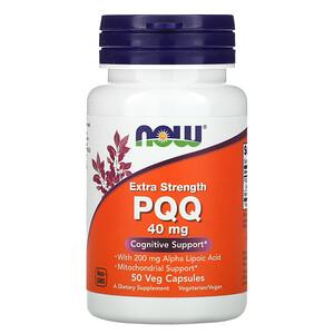 Now Foods, Extra Strength PQQ, 40 mg, 50 Veg Capsules отзывы покупателей