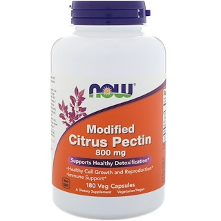 Now Foods, Pectina Cítrica Modificada, 800 mg, 180 Cápsulas Vegetarianas