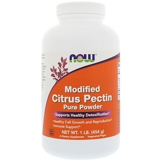 Now Foods, Modifiziertes Citruspektin, reines Pulver, 454 g (1 lb)