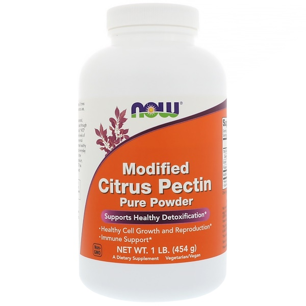 Now Foods, Pectina cítrica modificada, Pura en polvo, 1 lb (454 g)