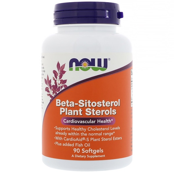 Now Foods, Beta-Sitosterol Plant Sterols, 90 Softgels
