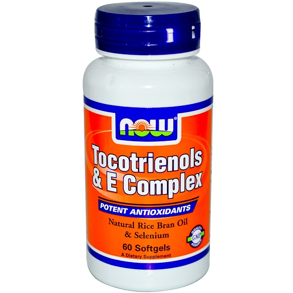 Now Foods, Tocotrienols & E Complex, 60 Softgels (Discontinued Item)