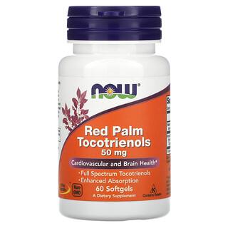 Now Foods, Tocotrienóis de Palma Vermelha, 50 mg, 60 Cápsulas Gelatinosas