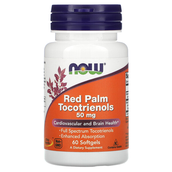 Now Foods, Red Palm Tocotrienols, 50 mg, 60 Softgels