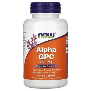 Now Foods, Alpha GPC, 300 mg, 60 Veg Capsules