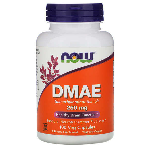 Now Foods, DMAE, 250 mg, 100 Veg Capsules