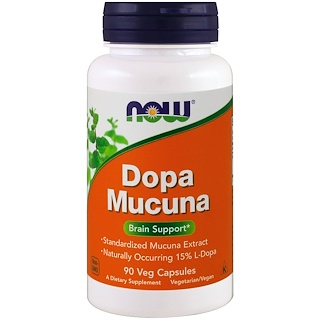 Now Foods, Dopa Mucuna, 90 Cápsulas Vegetais