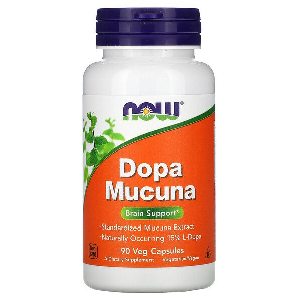 Now Foods, Mucuna Dopa, 90capsules végétariennes