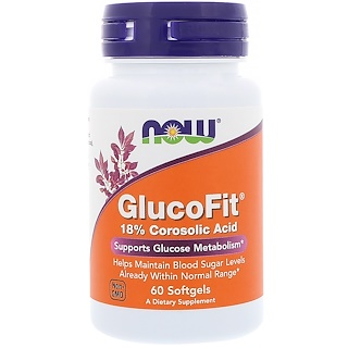 Now Foods, GlucoFit、60ソフトジェル