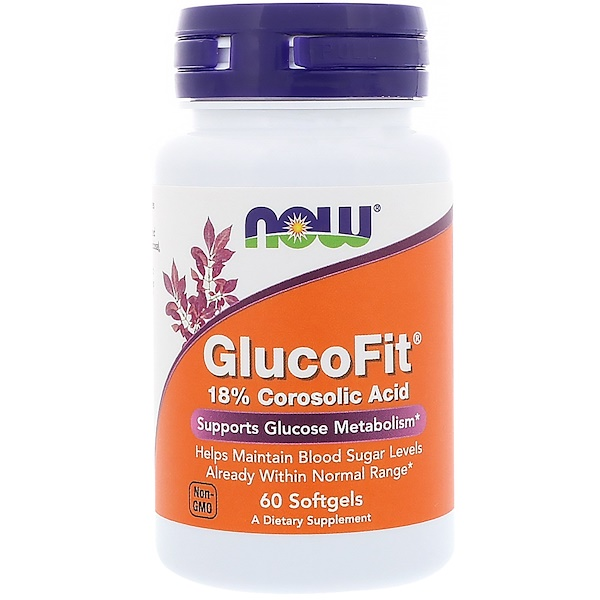 Now Foods, GlucoFit, 60 Softgels