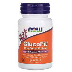 Now Foods, GlucoFit, 60 Softgels отзывы
