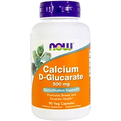 Now Foods, Calcium D-Glucarate, 500 mg, 90 Veggie Caps
