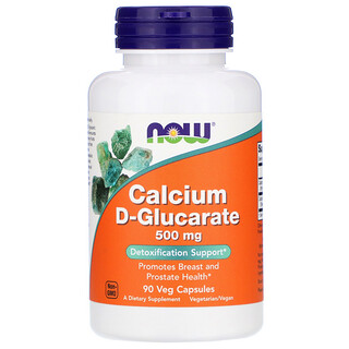 Now Foods, Calcium D-Glucarat, 500mg, 90vegetarische Kapseln