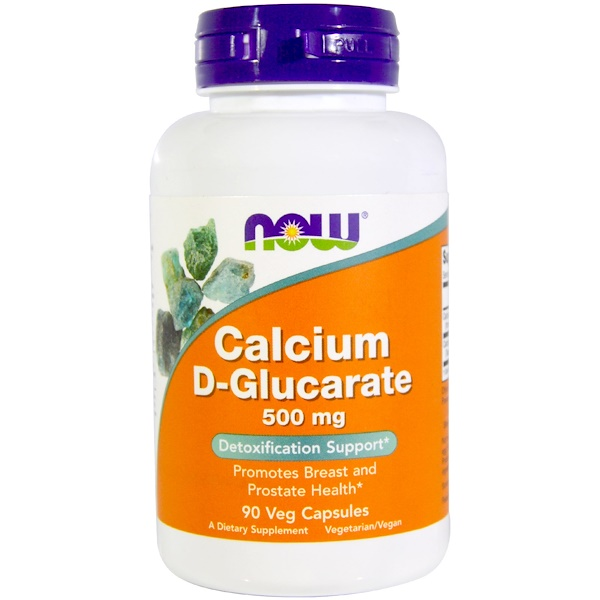 Now Foods, D-Glucarate de calcium, 500 mg, 90 capsules végétales