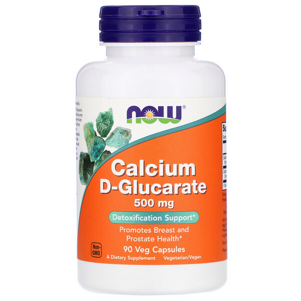 Now Foods, Calcium D-Glucarate, 500 mg, 90 Veg Capsules