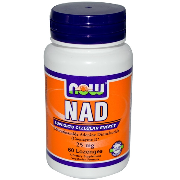 Now Foods, NAD, 25 mg, 60 Lozenges (Discontinued Item)