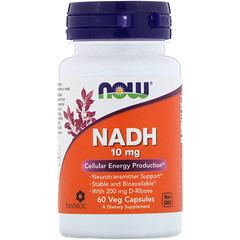 Now Foods, NADH, 10 mg, 60 Veg Capsules