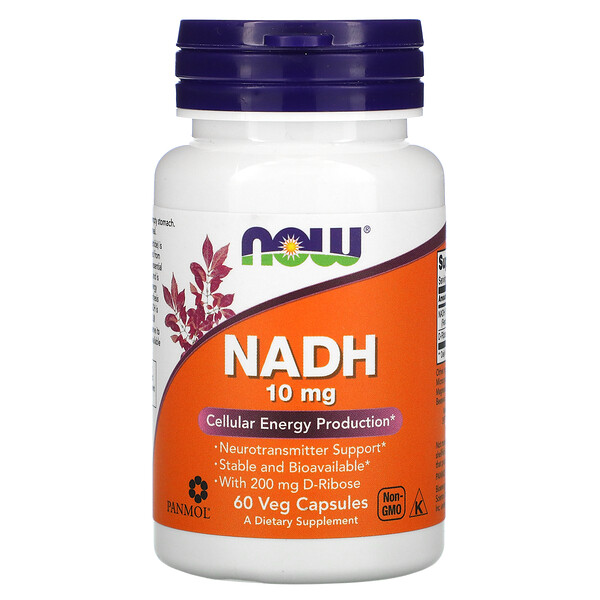 Now Foods, NADH, 10 mg, 60 cápsulas vegetales