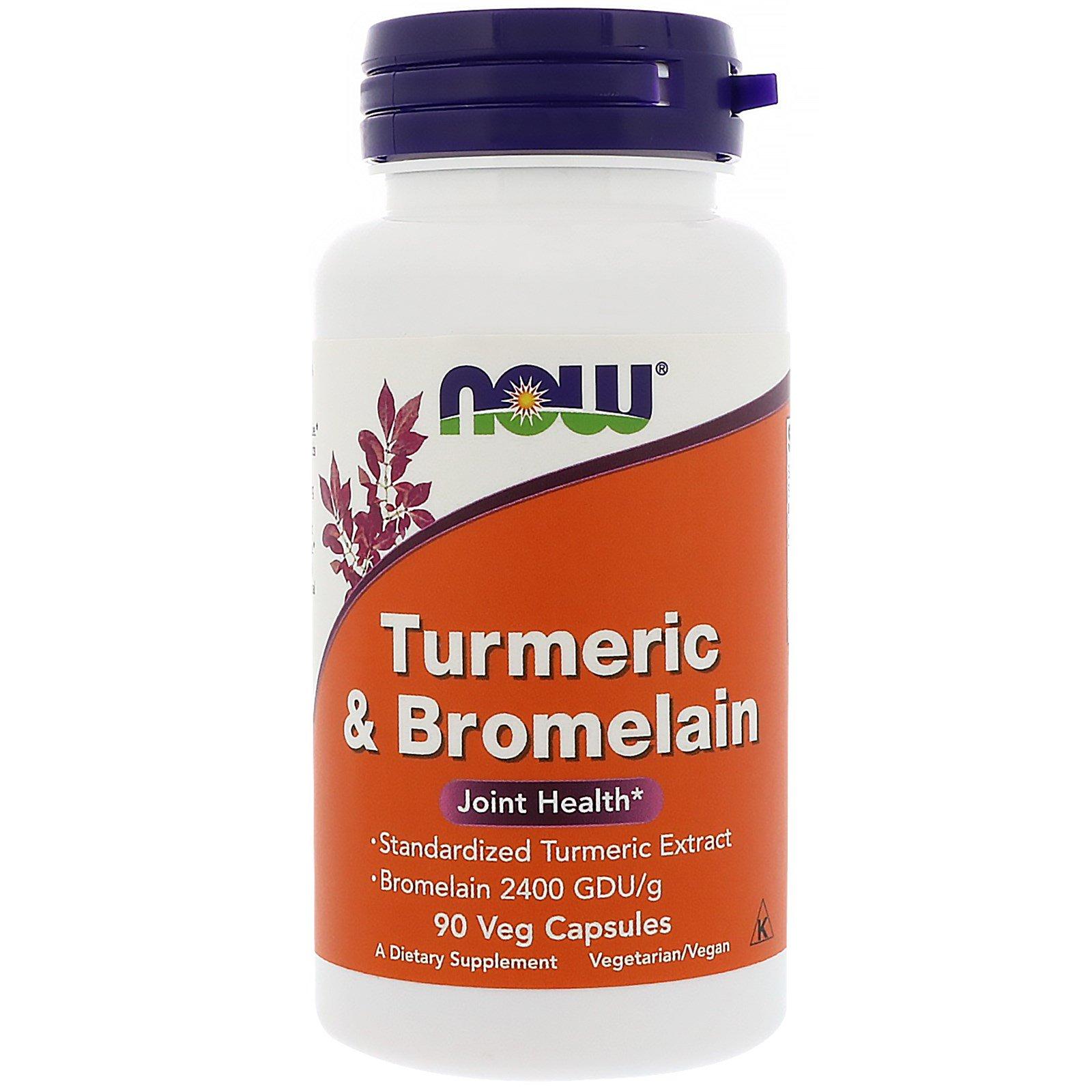 Now Foods, Turmeric & Bromelain, 90 Veg Capsules - iHerb com