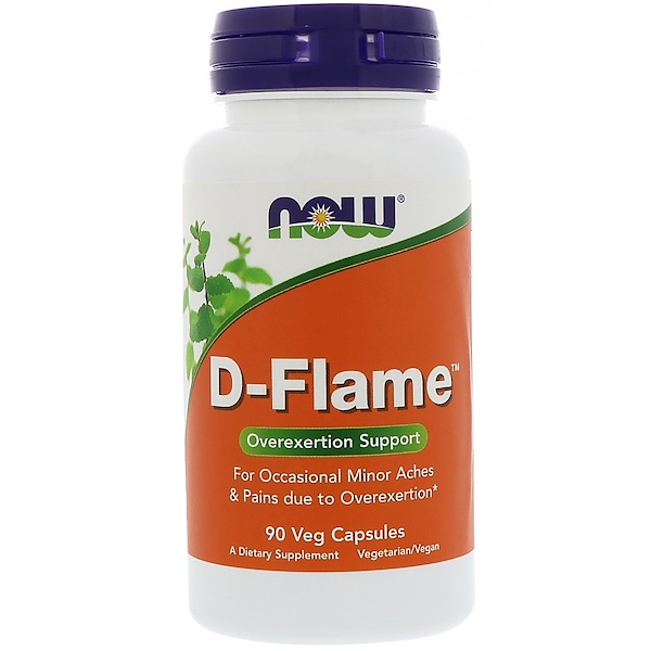 Now Foods, D-Flame، 90 كبسولة نباتية