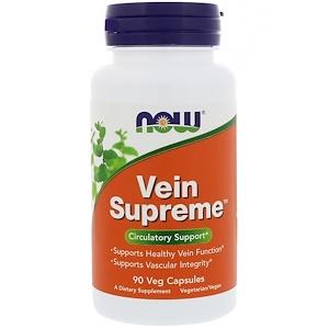 Now Foods, Vein Supreme, 90 растительных капсул инструкция, применение, состав, противопоказания