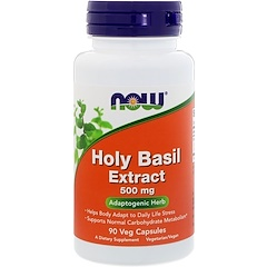 Now Foods, Holy Basil Extract, 500 mg, 90 Veg Capsules