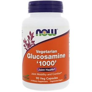 Now Foods, Vegetarian Glucosamine '1000' , 90 Veg Capsules отзывы покупателей