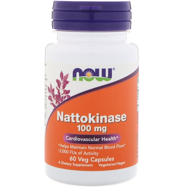 Now Foods, Nattokinase, 100 mg, 60 Veg Capsules