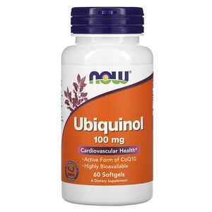 Now Foods, Ubiquinol, 100 mg, 60 Softgels отзывы покупателей