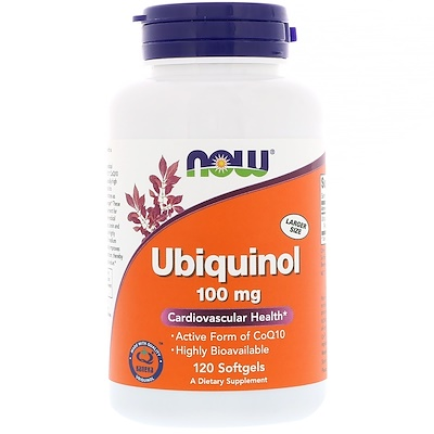 Купить Убихинол, 100 мг, 120 гелевых капсул