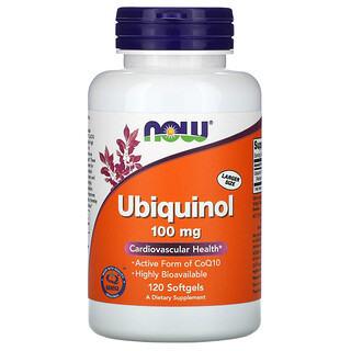 Now Foods, Ubiquinol, 100 mg, 120 Softgels