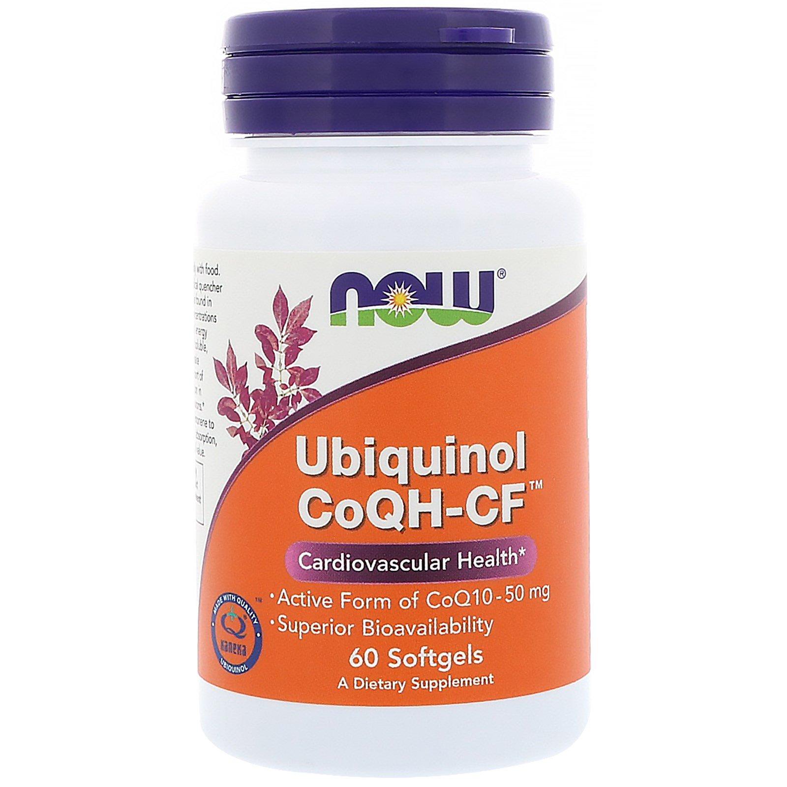 Now Foods, Убихинол CoQH-CF, 60 гелевых капсул