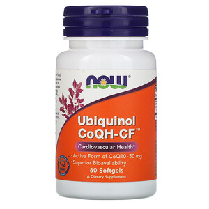 Now Foods, Ubiquinol CoQH-CF, 60 Softgels отзывы