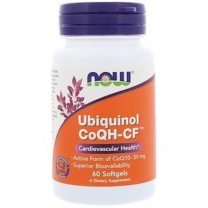 Now Foods, Убихинол CoQH-CF, 60 гелевых капсул инструкция, применение, состав, противопоказания