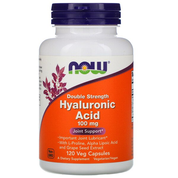 Hyaluronic Acid, Double Strength, 100 mg, 120 Veg Capsules