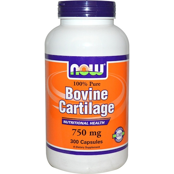 Now Foods, Bovine Cartilage, 750 mg, 300 Capsules (Discontinued Item)