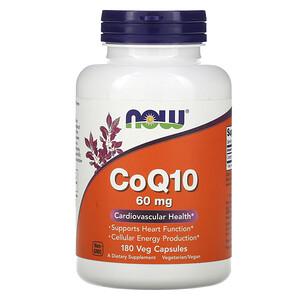 Now Foods, CoQ10, 60 mg, 180 Veg Capsules отзывы покупателей