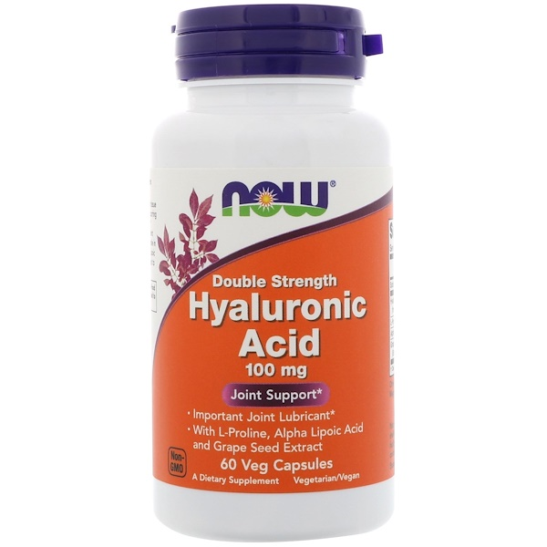 Hyaluronic Acid, Double Strength, 100 mg, 60 Veg Capsules
