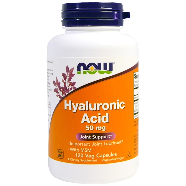 Now Foods, Hyaluronic Acid, 50mg, 120 Veg Capsules