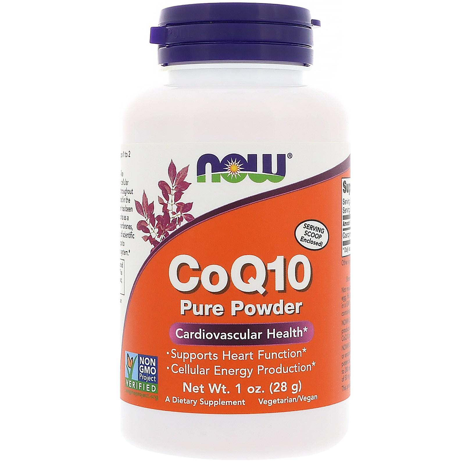 Now Foods, Коэнзим Q10, 100% чистый порошок, 1 унций (28 г)