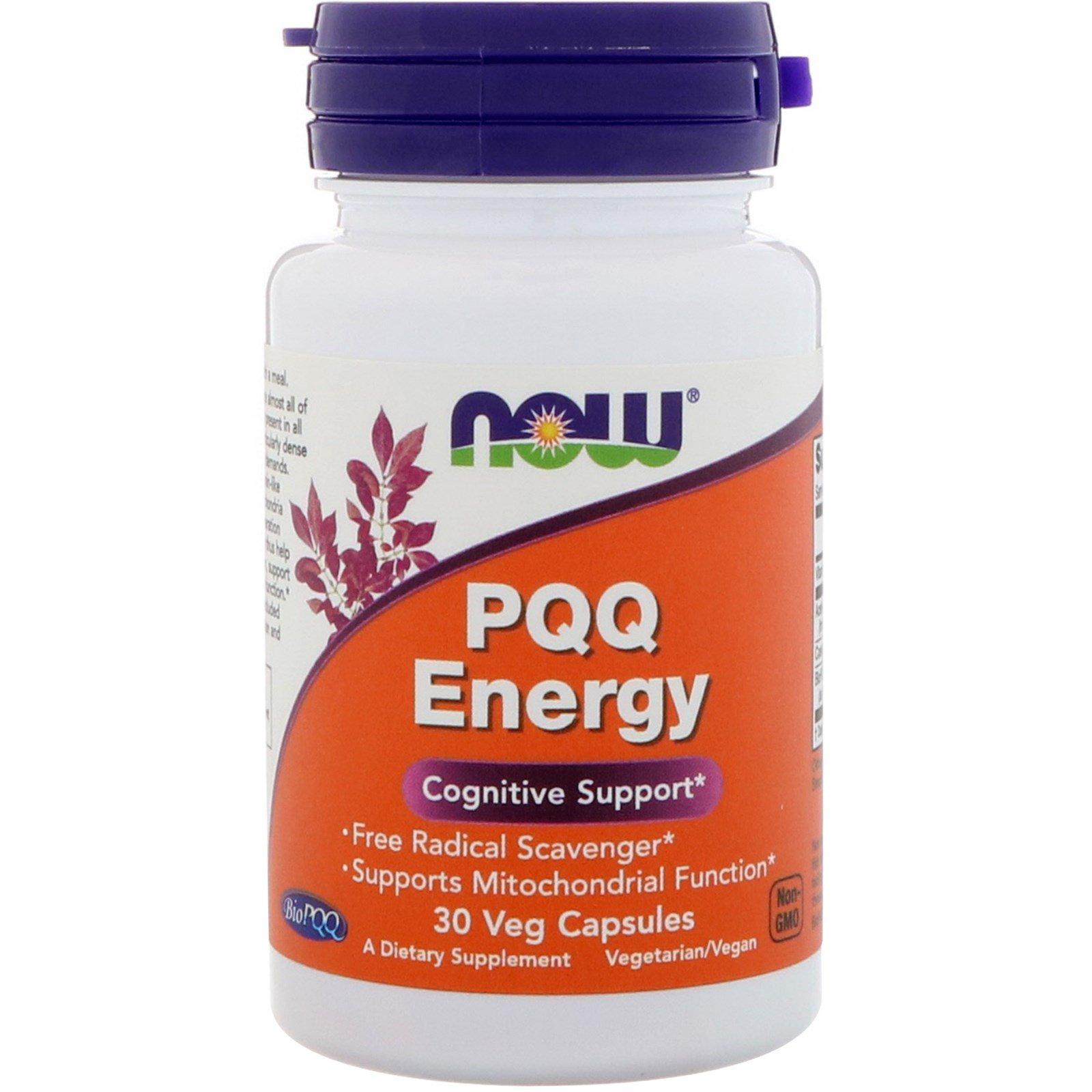 Now Foods, PQQ Energy, 30 вегетарианских капсул
