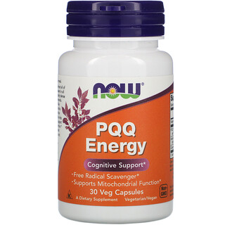 Now Foods, طاقة البيرولوكوينولين كوينون، 20 ملجم، 30 كبسولة نباتية