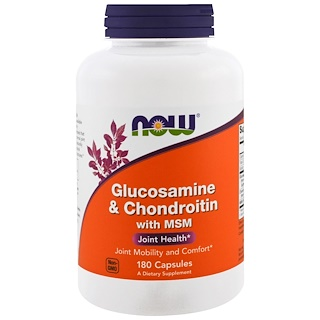 Now Foods, Glucosamine & Chondroitin with MSM, 180 Capsules
