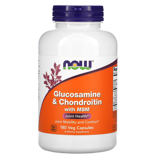 Now Foods, Glucosamine & Chondroitin with MSM, 180 Veg Capsules